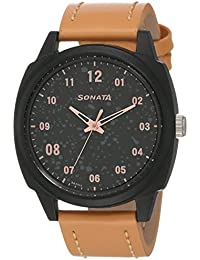 Sonata Volt+ Analog Black Dial Men's Watch-77086PL01