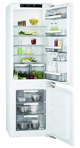 AEG SCE81821LCx Einbau Kühl-Gefrier-Kombination mit Gefrierteil unten/186 l Kühlschrank/72 l Gefrierschrank/LowFrost/sparsamer Einbaukühlschrank (A++)/Einbau-Höhe: 178 cm/weiß (Kühlschrank Tür-offen-alarm)