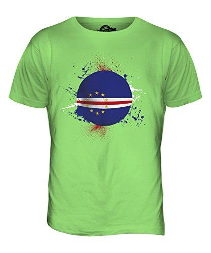 CandyMix Kap Verde Fußball Herren T Shirt Limettengrün