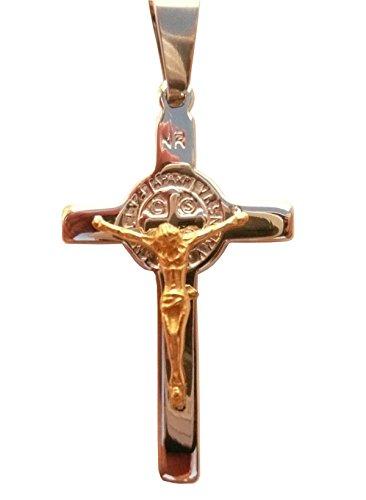 St. Medaille Benedikt (Kreuz Kruzifix des Heiligen Benedikt von Nursia Patriarch Moines Okzident)