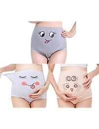 7d75840de1ecd TRISTIN Maternity 3 Pack Soft Cotton Pregnancy Panties, Women High Waist Underwear  Knickers/Nursing