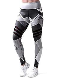 rokirs Mujer Casual Impreso Sporting Fitness Leggings Yoga Skinny Pantalones  Leggings 25e6b17808e7