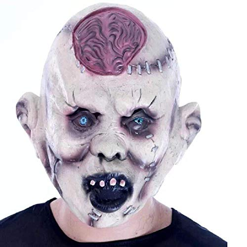 Kostüm Burst Full - HAOBAO Horror Teufel Schädel Gesicht Explosion Gehirne Halloween Maske Scary Zombie Ghost Full Gesichtsmaske Creepy Burst Gehirn Latex Masquerade Kostüm Party Masken