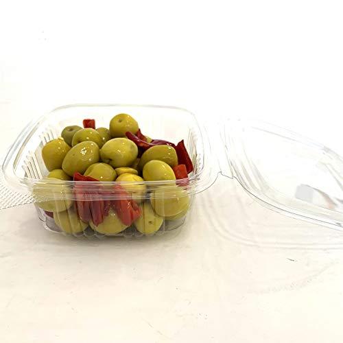 Extiff Lot de 50 Boîtes Alimentaires Fraîcheur pour Salade avec Couvercles Jetables (500 GR)