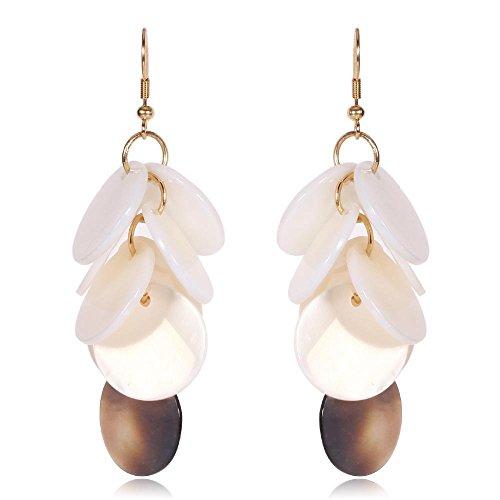JunBo Weiße Trauben Zeichenfolge Shell Exquisite Mode Einfach Ohrring