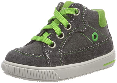Superfit Baby Jungen Moppy Sneaker, Schwarz (Grau/Grün 20), 24 EU