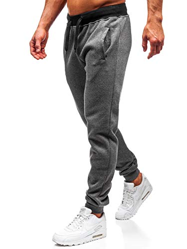 BOLF Pantalon Jogger de Sport Mode Homme J.Style AK11-1 Gris foncé M [6F6]