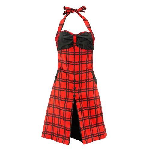 Voodoo Vixen Kleid DRA2146 black-red XL