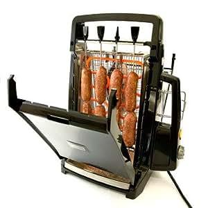 Vertical chef barbercue grill rotissoire vu a la tv cuisine maison - Grille pour barbecue vertical ...