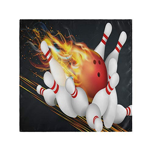 Hunihuni Bowling Ball Tischdecke Serviette Satin Polyester waschbar Dinner Servietten Übergröße 50,8 x 50,8 cm für Home Hochzeit Party Abendessen 1 Stück, Satin Pfirsich-Samt, Mehrfarbig, 1 Stück