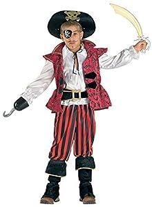 Clown 62308/08 - Disfraz de pirata del Caribe para niño, multicolor