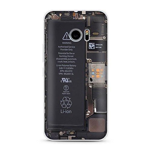 Handyhülle für HTC 10 - TPU Silikon Schutzhülle - Hülle mit Motiv - Design Case - Cover - Backcover - Handy Schale (Batterie)