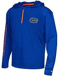 "Florida Gators Youth NCAA ""Sleet"" 1/4 Zip Pullover Hooded WindShirt Chemise"