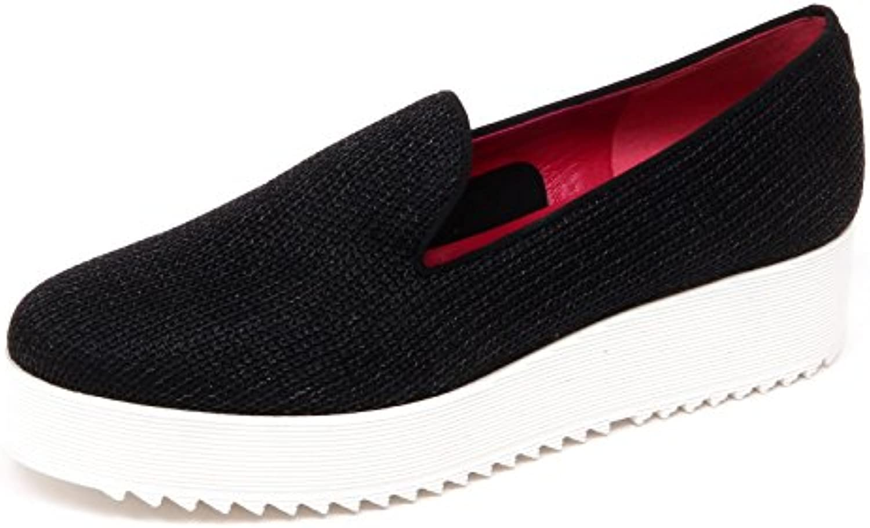 D2874 mocassino donna UNO 8 UNO 181 SHAK slip on nero loafer shoe woman