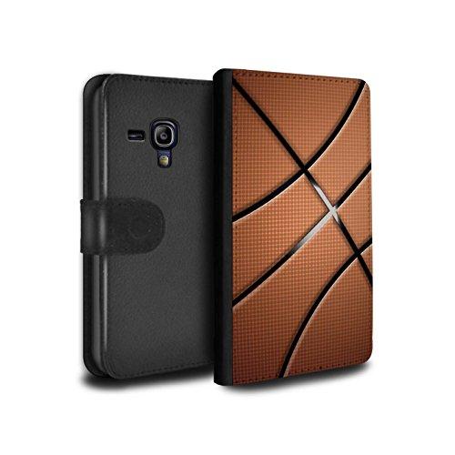 Stuff4® PU-Leder Hülle/Case/Tasche/Cover für Samsung Galaxy S3 Mini/Basketball Muster/Sport Bälle/Ball Kollektion (Case Samsung Basketball S3 Mini)