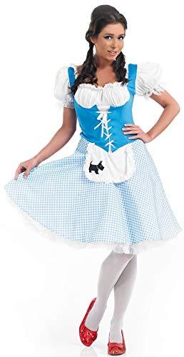 Fancy Me Damen Längere Länge Kleiner BO Peep Rotkäppchen Dorothy Goldlöckchen Miss Muffet Maskenkostüm UK 8-26 Übergröße - Dorothy, (Übergröße Dorothy Kostüm)