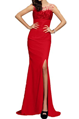 ivyd ressing Donna Modern Mermaid intaglio paillette Fest Abito Party Prom abito Rot