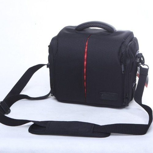 Wasserdichte stoßdämpfende DSLR SLR Kameratasche mit extra Regenschutz für Panasonic Lumix DMC fz82FZ72FZ150FZ200fz330LZ40Long Zoom Camera, GF2, GF3, GF, GF Bridge Kameras (Lumix Gf3 Kamera Tasche)