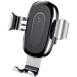 Chargeur Sans Fil Voiture Rapide,Chargeur Auto Sans Fil à Induction,Quick Chargeur de Voiture Sans Fil,Baseus Qi Support Téléphone Air Vent Mount Rotation 360° Magnétique Voiture Chargeur Induction pour iPhone X / 8 / 8 Plus, Samsung Galaxy S9 / S9+ / S7/ S7 Edge/ S6 Edge/ S8 / S8 Plus/ Note 5, Et d'autres Appareils Qi Standard .