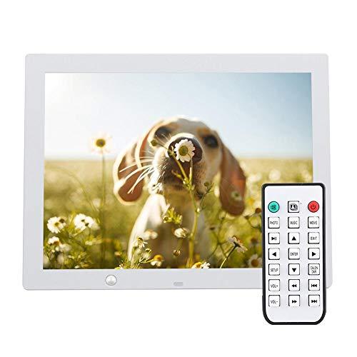 VBESTLIFE Elektronisches Fotoalbum,VBESTLIFEMenschliche Körper Induktion 15-Zoll-Multifunktions-hochauflösende LED-Geschäftswerbung Maschine Geschenk digitaler Bilderrahmen.(Weiß)