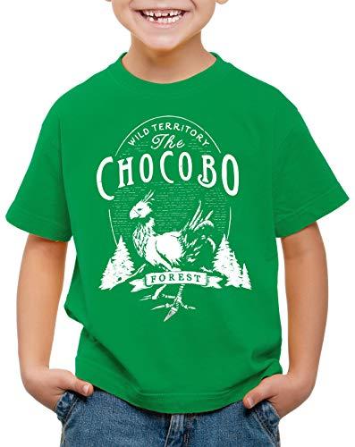 CottonCloud Wild Chocobo T-Shirt für Kinder final VII Rollenspiel, Farbe:Grün, Größe:128 -