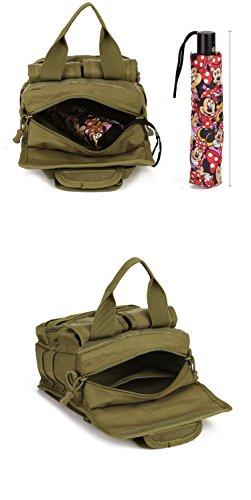 YAAGLE Outdoor militärisch Gepäck Damen und Herren Unisex multifunktional Schultertasche Armee Fans Tarnung Umhängetasche wasserdicht Handtasche Reisetasche-schwarz Tarnung 1