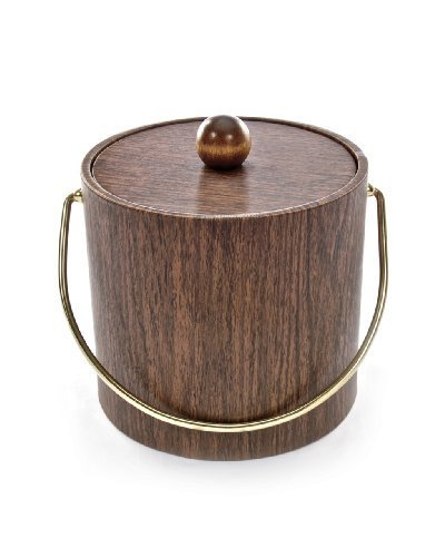 Mr. Ice Bucket 951-1 Walnut Woodgrain Ice Bucket, 3-Quart by Mr. Ice Bucket
