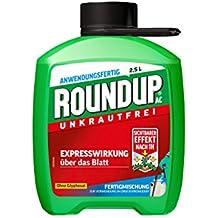 Roundup AC Unkrautfrei, Fertigmischung zur Bekämpfung von Unkräutern, Gräsern und Moos , 2,5 Liter Kanister