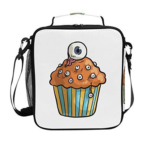 FAJRO Kühltasche für Mittagessen, Halloween, Cupcake-Motiv, isoliert