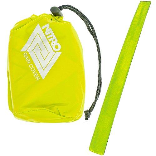 Nitro Regenhülle Cover Regencover Regenüberzug für Superhero, Stash, Hero, Aerial, Chase + Reflektorband (Yellow (Gelb) 001)
