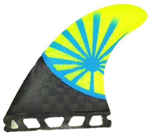 FUTUROS ALETAS COMPATIBLES NEGRO MATE FIBRA DE VIDRIO TABLA DE SURF QUAD 4FIN SET