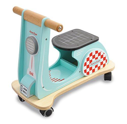 Indigo Jamm Jamm Scoot Tretroller aus Holz, für Kinder ab 12 Monaten
