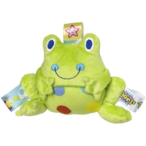 Mary Meyer Taggies Rattle Spotted Frog Plush