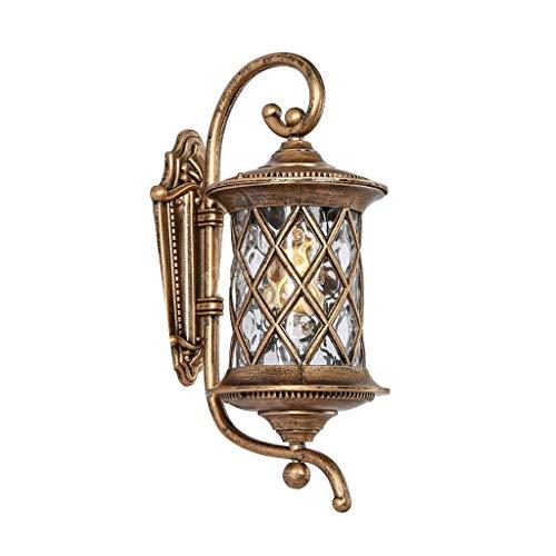 LMDH Moderne Outdoor-Wandleuchte Bronze Wasser Glas Laterne Dusk to Dawn Bewegungssensor für Außenveranda (größe : F2) -