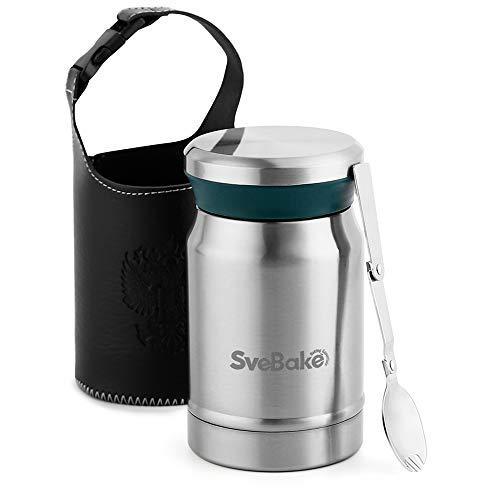 SveBake Thermobehälter für Essen Edelstahl 620ml | Warmhaltebehälter...