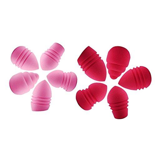 Sharplace 10pcs Houppettes à Poudre Applicateur Pour Fond de Teint Poudre Liquide Eponge Bouffée
