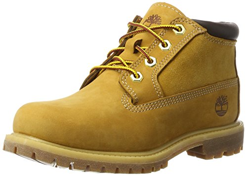 Timberland Damen Nellie Leather Suede (Wide fit) Chukka Boots, Gelb (Wheat), 37 EU -