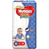 Huggies Ultra Soft Pants Diapers for Boys, Small (Pack of 36)