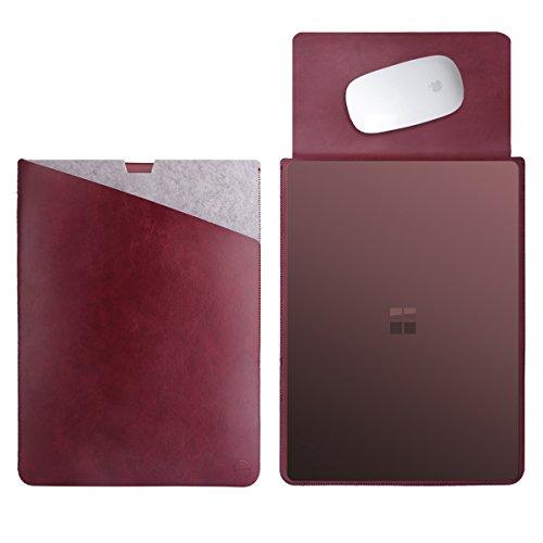 WALNEW 13.5 Microsoft Surface Laptop 1/2 13.5 Zoll Schutzhülle, Hülle, Case, Cover, mit Zwei-Taschen-Design mit Geschütztem Inneren und Externem Mousepad