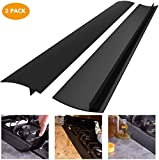 Silicone Kitchen Stove Counter Gap Cover Long & Wide Gap Filler (2 Pack) Seals Spills Between Counters, Stovetops, Washing Machines, Oven, Washer, Dryer - Heat-Resistant and Easy Clean (53CM Black)
