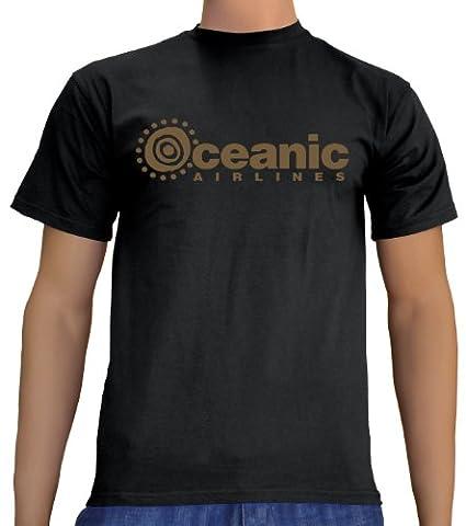 Touchlines Unisex/Herren T-Shirt Oceanic Airlines - Lost Dharma, black/gold, XXXL, B1751 (Fun Schule Halloween Kostüme)