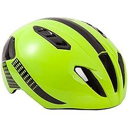 HK-Kensolng Bontrager Team Casco de Bicicleta Aero Casco de Bicicleta para Hombres/Mujeres Casco de Ciclismo Ultraligero TT Triatlón Casco Ciclismo Green-Black M