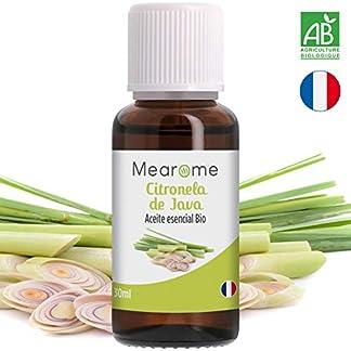 Aceites Esenciales Mearome 100% Puros y Naturales Aromaterapia Aceites Esenciales para Humidificador – Aceites Aromáticos (Citronela)