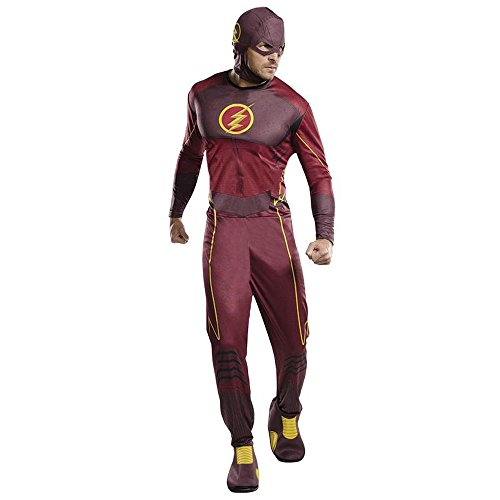Dc Kostüme (DC Comics Classic Herren Kostüm The Flash Karneval Fasching)