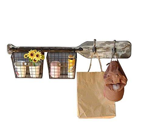 WCUI Vintage Massivholzregal, Paddel Racks verbunden Kleiderständer absichtlich tun die alten Lagerregal Retro Regal Shop Handwerk Display Stand Wandhalterung Nostalgic persönliche Wohnzimmer Wand Dekoration 87 * 24 * 16CM Wählen ( größe : 87*24*16CM )