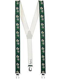 Bretelles de haute qualité pour Femmes / Homme avec 3 Extra fort clips dans 15 Couleurs avec XL CLIP - Extra Long - Fabriqué en Allemagne - Noir / Marron / Bordeaux / Bleu / Vert / Beige / Blanc