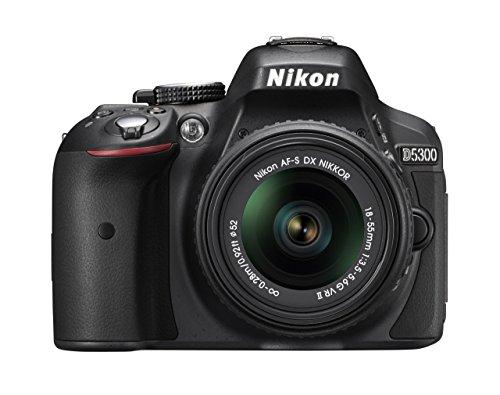 Nikon-D5300-Kit-Fotocamera-Reflex-18-55-mm-VRII-Lega-di-AlluminioPlastica-Obiettivi-Inclusi-1-AF-S-DX-Nero