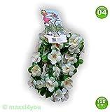 maxxi4you Fahrradgirlande Blumengirlande Blume Weißtöne 120 cm