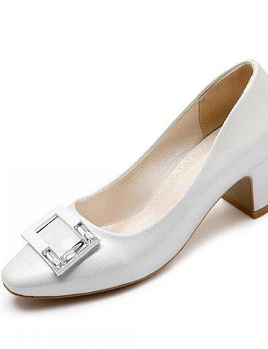 WSS 2016 Chaussures Femme-Bureau & Travail / Habillé / Décontracté-Rose / Blanc / Gris / Beige-Gros Talon-Talons-Chaussures à Talons-Microfibre beige-us6.5-7 / eu37 / uk4.5-5 / cn37