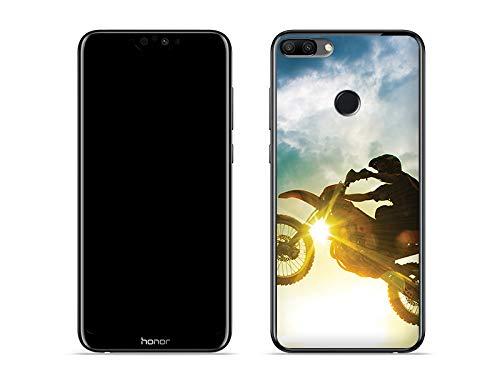 etuo Huawei Honor 9N - Hülle Foto Case - Motocross - Handyhülle Schutzhülle Etui Case Cover Tasche für Handy
